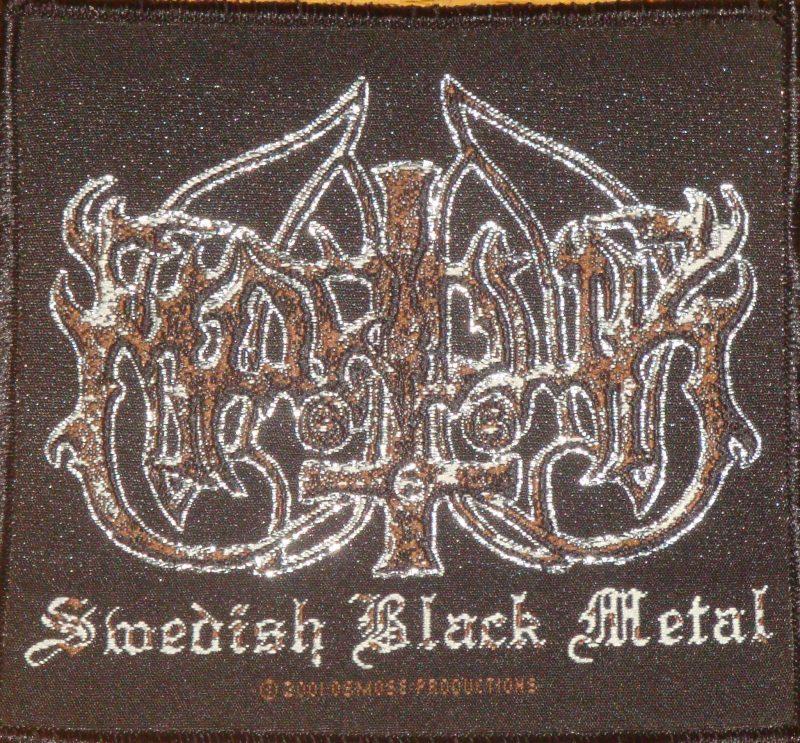 Black Metal Logo Aufn/äher//Patch Marduk